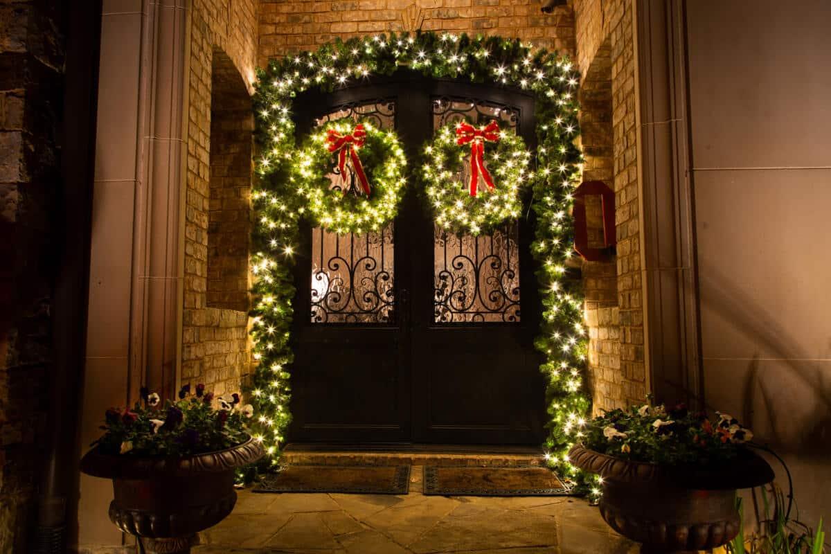 Christmas Lights Door Roanoke